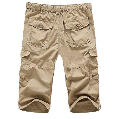Mosstars ❤️ Pantaloni Corti da Lavoro Estivi Uomo Sportivo Pantaloncini Vintage Solido Colore Loose Pantaloni da Nuoto Spiaggia Basket Running Palestra in Cotone Casual Shorts Cargo