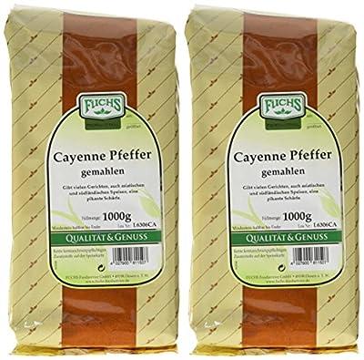FUCHS Cayenne Pfeffer / Chili gemahlen, 2er Pack (2 x 1 kg) von FUCHS bei Gewürze Shop