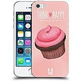 Head Case Designs Pink Cupcake Freude Soft Gel Hülle für Apple iPhone 5 / 5s / SE