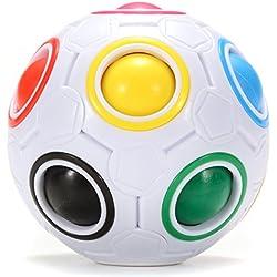 ThinkMax Bola mágica del arco iris, cubo inteligente de la velocidad del rompecabezas 3D, juguetes educativos para los niños, bola del alivio del estrés para el adulto