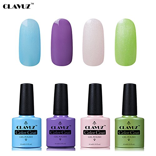 Set de Vernis à Ongles Semi-Permanent UV LED Soakoff 4pcs Kit Manucure 10ml de Clavuz-KIT 001