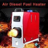 jinclonder 2019 Verbesserte Diesel-Standheizung mit 8 kW und 12 V, All-in-One-Diesel-Standheizung mit LCD-Bildschirm und Fernbedienung, Temperaturvoreinstellung