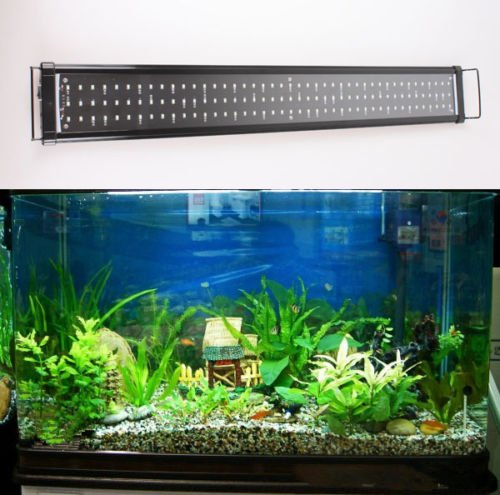 aquarien eco aquarium beleuchtung fisch tank aufsetzleuchte blau wei led lampe leuchte 90 115cm. Black Bedroom Furniture Sets. Home Design Ideas