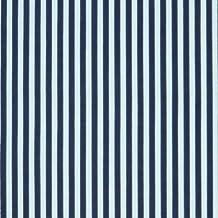 Azul marino y blanco 3 mm tela de polialgodón diseño de rayas ...