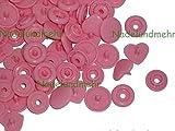 20 herzförmige satt-rosa Druckknöpfe aus Kunststoff, Baby-Snap (früher KAM Snap), Gr. T5, B57