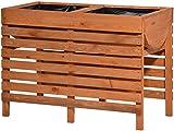 dobar 58150FSCe Dekoratives Hochbeet aus Holz (Kiefer): Tischbeet Bausatz, für Gemüse, Kräuter, Blumen, Beet flexibel platzierbar in Garten, Terasse, Balkon, 100 x 50 x 71 cm - Pflanzbeet Hochbeet
