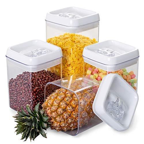 NUOLAN grande chiusura ermetica contenitori alimentari, senza BPA, contenitori differenziata in plastica Impilabile 4 Pezzi set con Easy Lock coperchi (YKG1001)