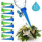 J Robin - Juego de 12 Picos de riego para Botella de Plantas, Sistema de riego automático para jardín, hogar, Interior y Exterior