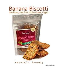 Grainny's Cookies Organic Whole-Grain Vegan Banana Cake Biscotti (150 gms)