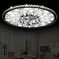 Moderne LED Deckenleuchte Runde Wohnzimmer Led Kristall Deckenleuchte,  Minimalistische Atmosphäre Europäische Lobby Restaurant Kristall