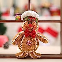 Fantasyworld Hombre de Pan de Jengibre de Navidad Adornos de Navidad Navidad árbol Accesorios