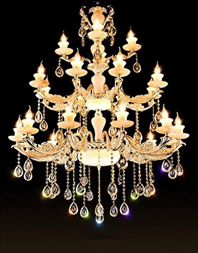European-simplicity-Zinc-alloy-chandelier-Three-layers-Luxurious-living-room-stairs-Duplex-building-villa-Crystal-chandeliers