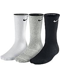 Nike Cushion Crew Calcetines, Unisex adulto, Gris / Blanco / Negro , XL, 3 unidades