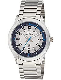 Maxima Attivo Collection Analog White+Black Dial Men's Watch - 36593CMGI