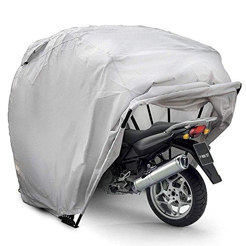 PhenixGa Bâche Moto Extérieur Tente De Moto Argent Oxford 600D Housse De Protection Bâche Moto...