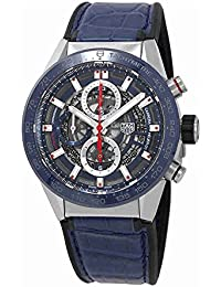 TAG Heuer Carrera azul esqueleto Dial automático Mens Reloj car201t. fc6406