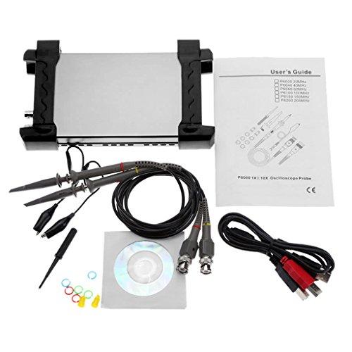Dabixx Hantek 6022BE 20 MHz Bandbreite 48MSa / s PC-basiertes, digitales USB-Speicheroszilloskop