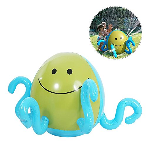 Aufblasbare Wasser Sprühen Octopus mit 4Wasser verspritzt Sommer Kinder Outdoor Wasser Spiel Wasser Jet Spaß Ball Spielzeug für Sommer Strand Pool (Blow 40 Gun)