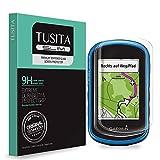 TUSITA [2-Pezzi] Vetro Temperato per Garmin eTrex Touch 25 35 35t - Pellicola protettiva con durezza 9H anti impronte e anti bolle - Handheld GPS Salvaschermo