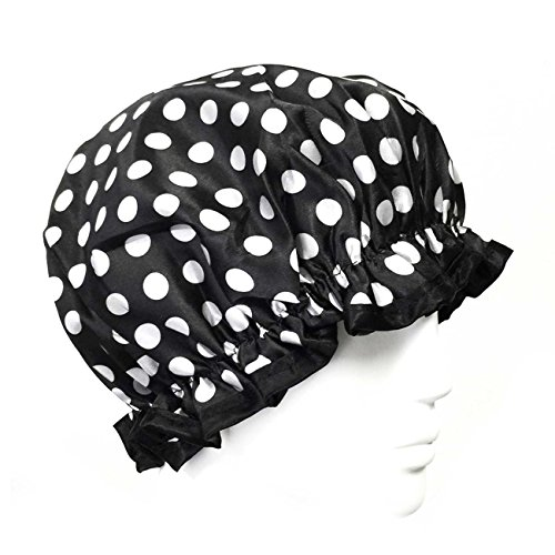 wrapables trendige Satin Dusche Gap Black and White Dots Betty White Satin