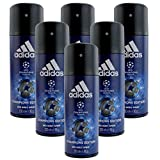 6* Adidas Deospray Deo Bodyspray 150ml Champions League...