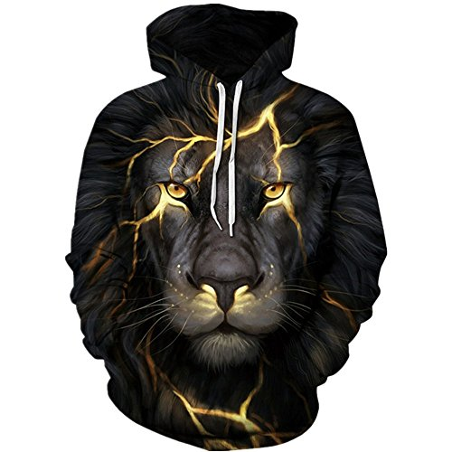HSLT HO 3D Hoodies Lion 3D Printed Sweatshirt Snow Lion Hoodies Sweatshirt e4a9121a8137