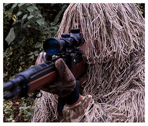Camouflage-Anzug, Verschlüsselungsverstärkung, für Jagd-Shooting-Spiele, geeignet für jede Größe Person, fünf-Stück-Anzug Wüste Farbe (größe : Medium size below 180CM) (Fünf Person Kostüm)