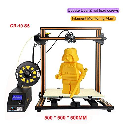 3D Drucker DIY Kit, HimanJie Drucker-Bausatz zum Selbstbauen Unterstützung 3D Drucker Kit (CR-10 5S, Orange) Kupplung Für Dremel