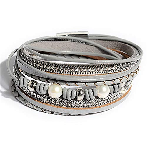 Daawqee Pulseras Wrap Leather Bangle Charm Winter Leather...