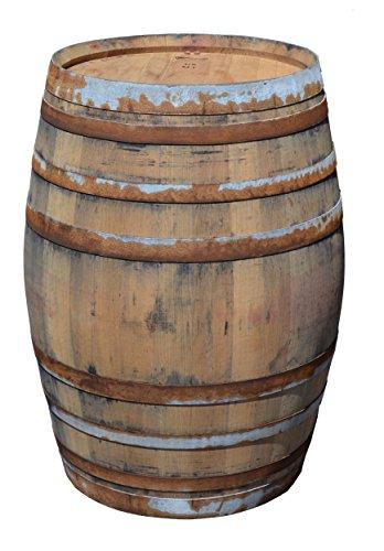 Temesso Stehtisch Tisch aus Holzfass, Gartentisch Weinfass, Fass, Barrique Tisch aus Eiche Holz rustikal 225 Liter (rustikal Natur)