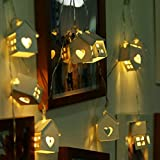 #10: Quace Indoor String Light (Wood House),Yellow