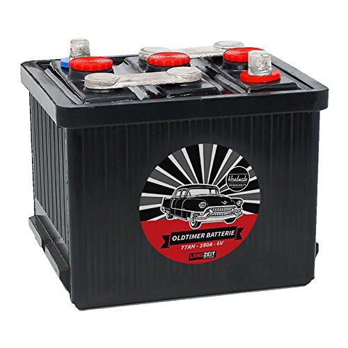 LANGZEIT Original Handarbeit 6V Oldtimer Batterie 66Ah 77Ah 84Ah Handmade (6V 77Ah)
