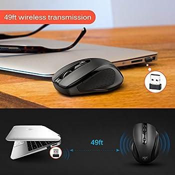 Victsing Mini Schnurlos Maus Wireless Mouse 2.4g 2400 Dpi 6 Tasten Optische Mäuse Mit Usb Nano Empfänger Für Pc Laptop Imac Macbook Microsoft Pro, Office Home 6