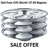 Vikruti Stainless Steel 4 Plates Idli Stand/Idli Maker(Get Free Gift Worth Of 40 Rupees)