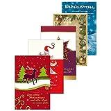 Susy Card 40008752biglietti di auguri di Natale, confezione da pezzi, 5motivi: alce, Albero di Natale, Stella, palline, Lanterna