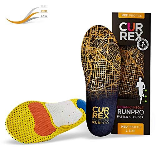 CURREX RunPro Sohle - Entdecke Deine Einlage für eine neue Dimension des Laufens. Dynamische Einlegesohle für Sport, Freizeit und Laufen, Med Profile, EU 39,5-41,5