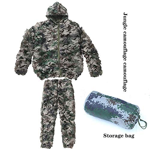 qxj Children's Jungle Camouflage Suit Desert Camouflage Maple Leaf Cloak Set to Eat Chicken Suit Suitable for 130-160cm,F-OneSize