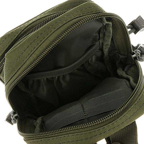 ruifu Nylon Wasserdicht Outdoor Tactical MOLLE Mehrzweck Utility Gadget Tasche Taille Tasche Armeegrün