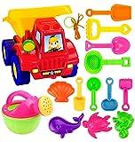 Kunststoff Beach Gabelstapler, mamum 14x Beach Kid Sandförmchen Sets Spaten Rechen Kits Sand Building Formen Pit Spielzeug Geschenke