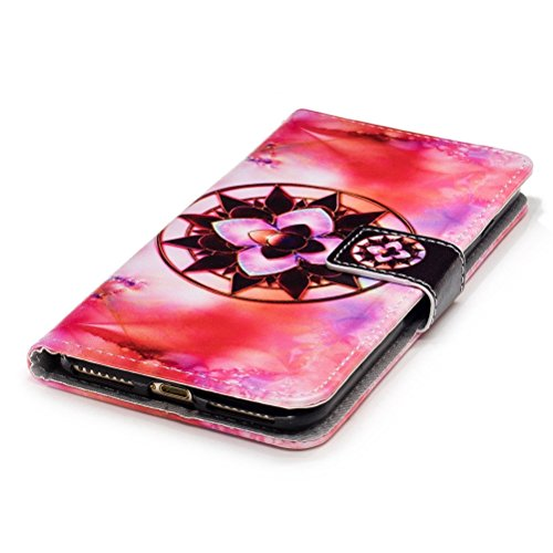 Custodia iPhone 7 Plus, iPhone 8 Plus Cover Wallet, SainCat Custodia in Pelle Flip Cover per iPhone 7/8 Plus, Ultra Sottile Anti-Scratch Book Style Custodia Morbida Cover Protettiva Caso PU Leather Cu Datura