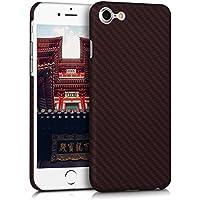 kalibri Hülle für Apple iPhone 7/8 - Handy Schutzhülle - Backcover Aramid Cover Rot Schwarz