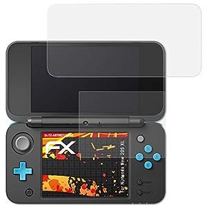 atFoliX Schutzfolie kompatibel mit Nintendo New 2DS XL Displayschutzfolie, HD-Entspiegelung FX Folie (3er Set)