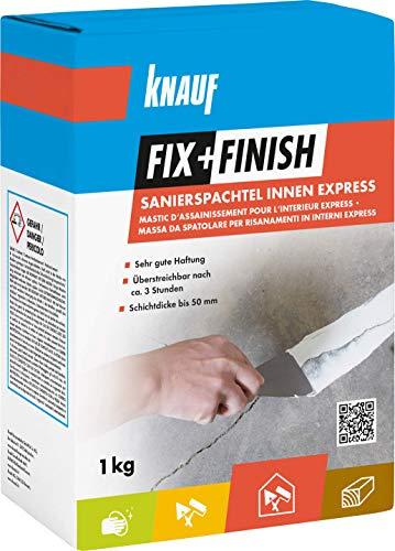 Knauf 593725 Fix+Finish Sanierspachtel Innen Express, weiß, 1 kg