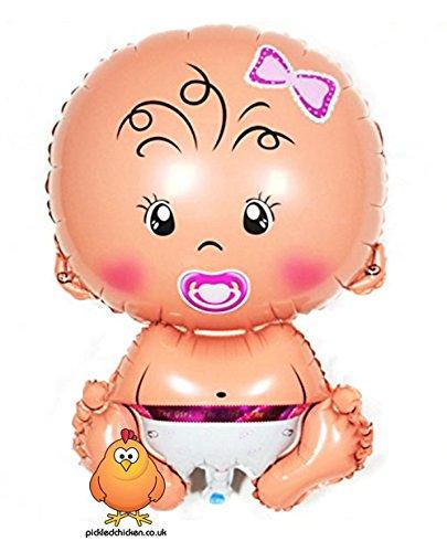 Chicken Cute (Giant Cute Baby Girl Supershape Helium Ballon geeignet für Baby Dusche Taufe Neugeborene Geburt)