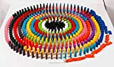 Agooding 120 pcs Colorful Wooden Educational Racing Domino Toys for Children by Agooding