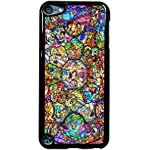 Disney Characters Stained Glass iPod Touch 5 Case (Negro Plastic)