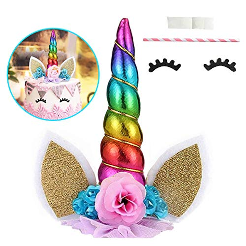 3c7195e9a37d Wgde toy Unicorn Gift Toy, Unicorn Cake Cake Topper y Party Cake Decoration  Supplies for Birthday Party, Wedding, Baby Shower