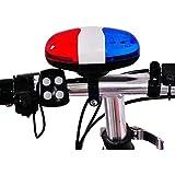 TOOGOO Fahrradklingel 6 LED 4 Ton Horn LED Licht elektronische Sirene Fahrradklingeln fuer Kinder Fahrradzubehoer