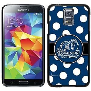 Coveroo Thinshield Case for Samsung Galaxy S5 - Retail Packaging - Black/ODU Big Blue Polka Dots Design