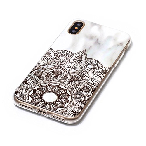 inShang iPhone X 5.8inch custodia cover del cellulare, Anti Slip, ultra sottile e leggero, custodia morbido realizzata in materiale del TPU, frosted shell , conveniente cell phone case per iPhone X 5. Datura flowers
